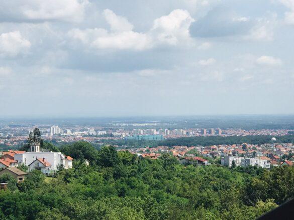 Zagreb from afar